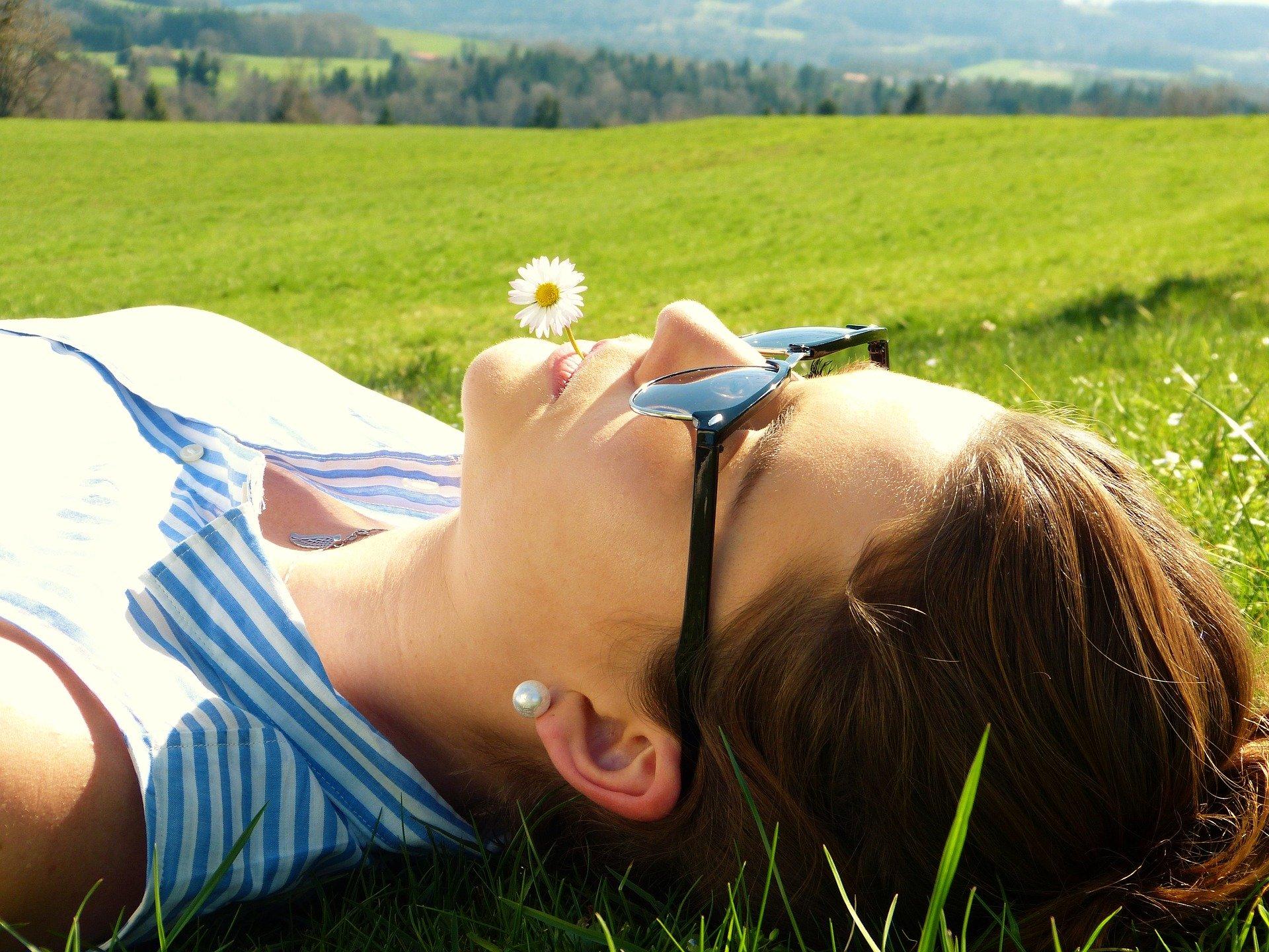 relaxing-young woman meditation