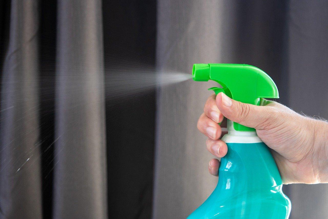 disinfectant spray hand